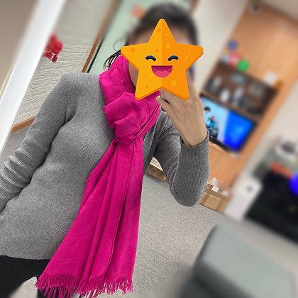 桃紅色披肩 頸巾