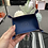 Thumbnail: 皮革放置盤 bleu regate/fauve