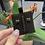 Thumbnail: Mini pop H耳環 黑色玫瑰金
