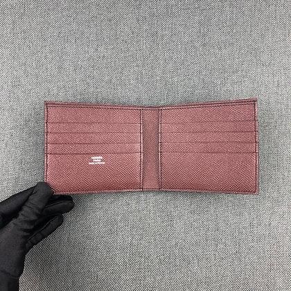 Full leather Man wallet (dark blue /dark red)