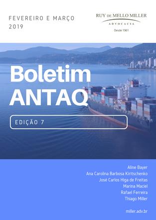 BOLETIM ANTAQ - 7º EDIÇÃO