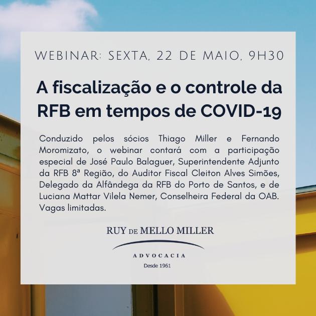 A fiscalização e o controle da RFB em tempos de COVID-19