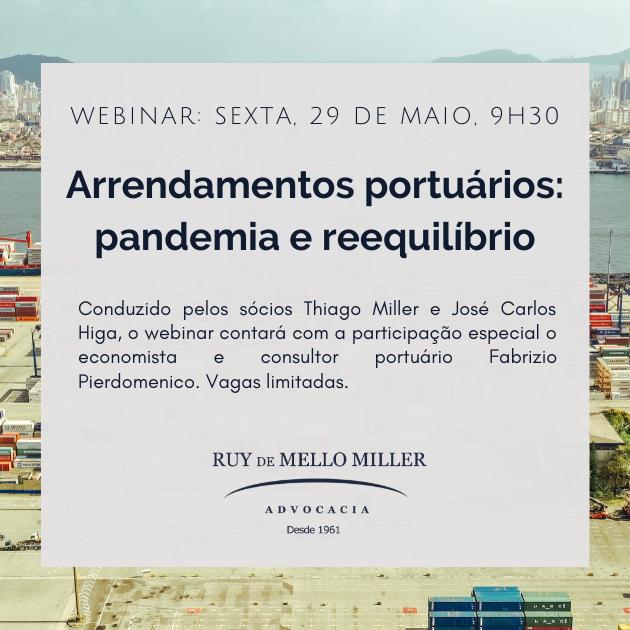 Arrendamentos portuários: pandemia e reequilíbrio