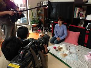 パピヨンのポッキーちゃんの訪問介護のようすが紹介されました