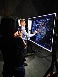 Прозрачная доска, лайтборд, интерактивна