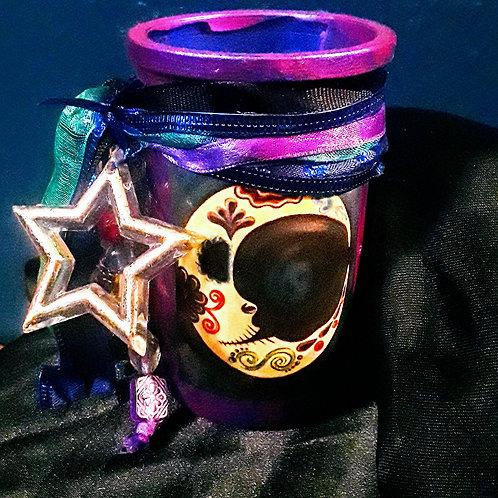 Mini Luna Crescent Moon Candle