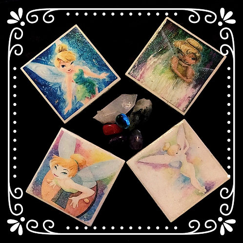 TINKERBELL CERAMIC COASTER SET