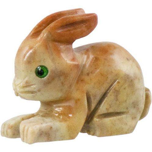 Carved Dolomite Rabbit Spirit Animal