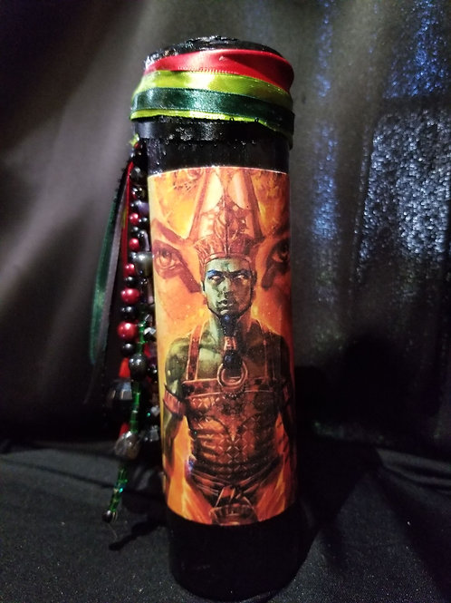 Egyptian God Osiris Candle