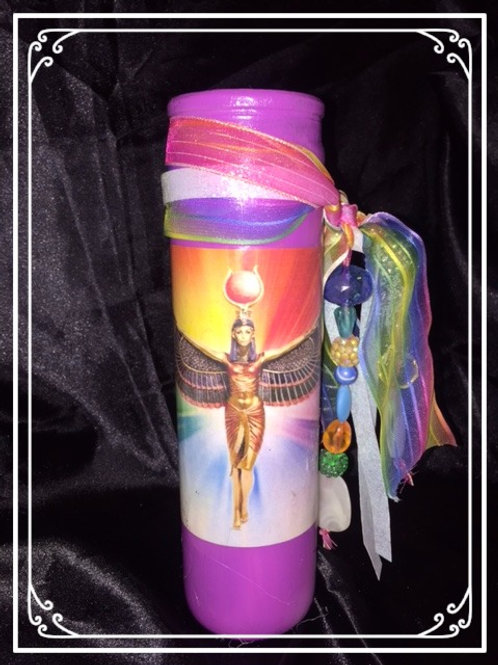 Goddess Isis Deity Candle