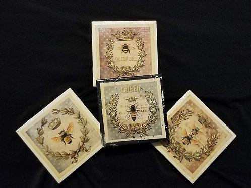 Busy Bee Ceramic Coaster Set