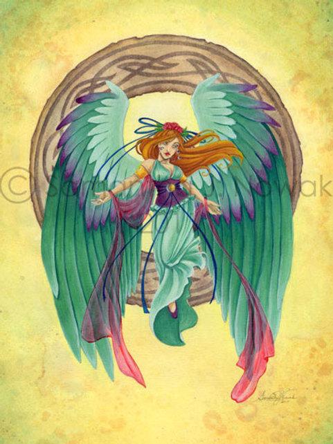 EMBRACE ANGEL ART PRINT