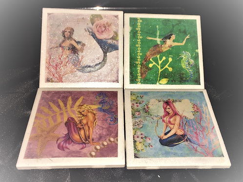 SIREN CERAMIC COASTER SET