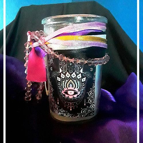 Hamsa Mini Candle