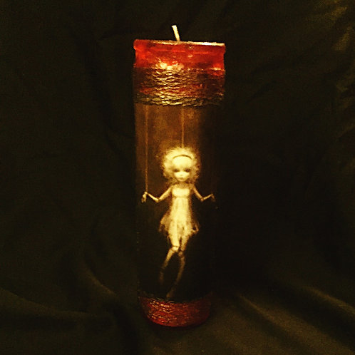 Puppet Compel worked candle