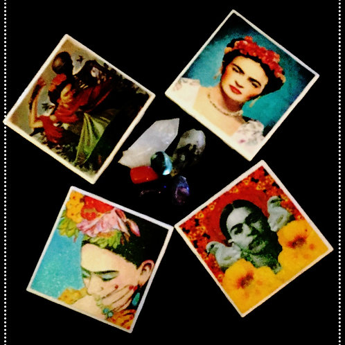 FRIDA KAHLO CERAMIC COASTER SET