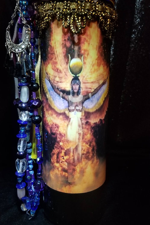 Egyptian Goddess Isis Candle