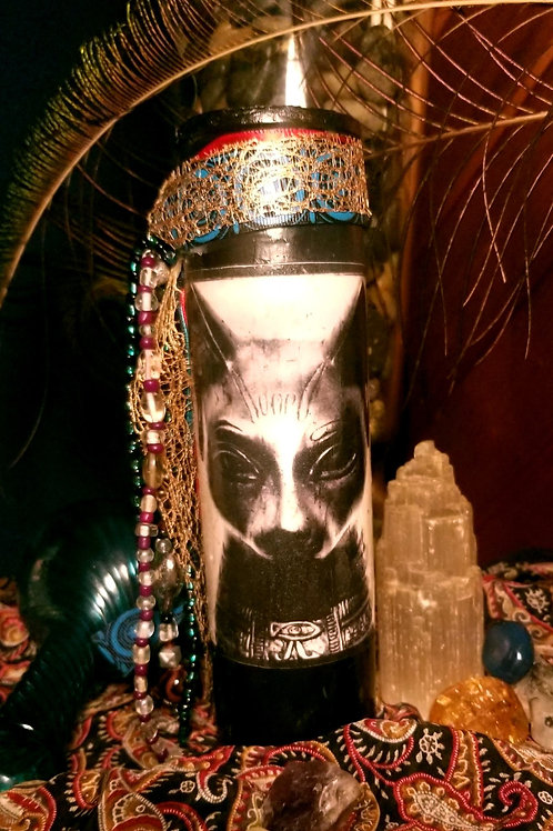 The Goddess Bast Candle