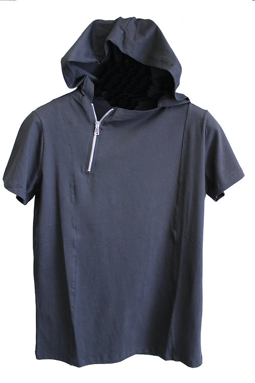 7018-BLACK WITH HOOD