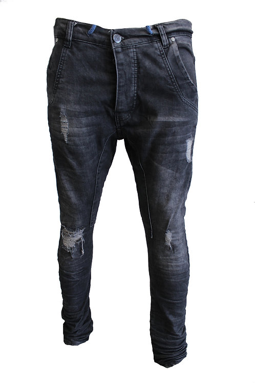 KJ-7145 WASHED BLACK