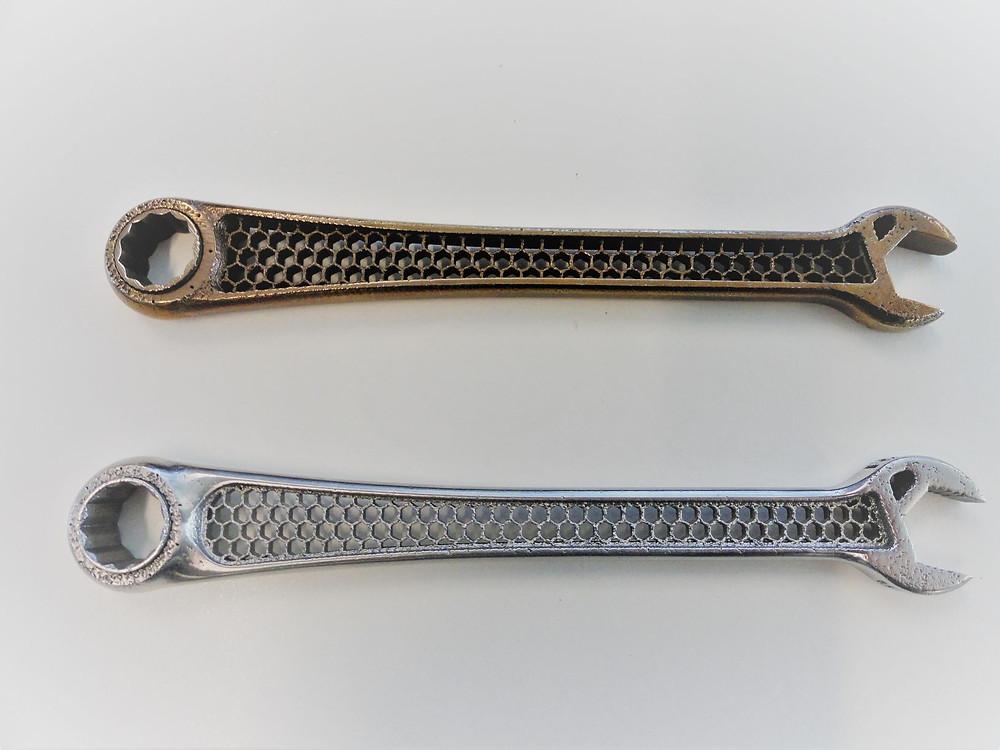 Metal 3D printing a ratchet spanner