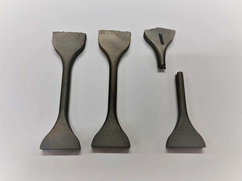 Metal 3D printing tensile bars for quality control purposes