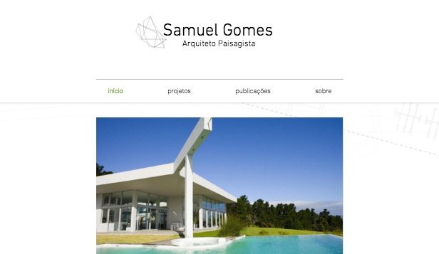 Designer website templates – Arquitetura Paisagista