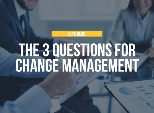 The 3 Questions for Change Management