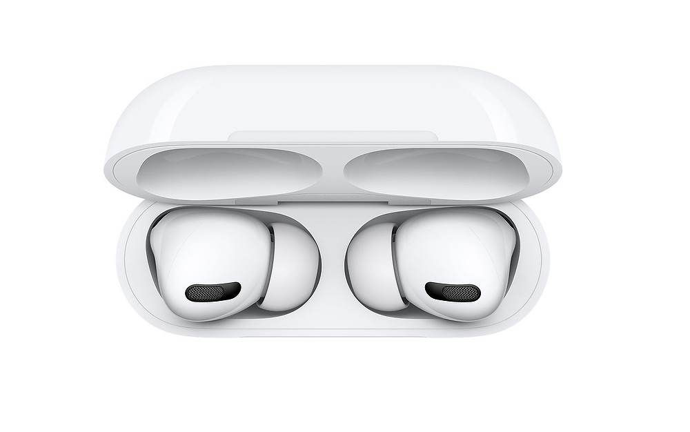 A top view of AirPods Pro