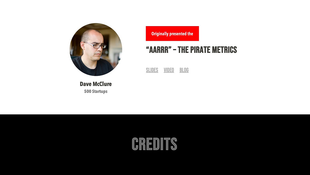 Originally presented by Dave McClure | 500 Startups