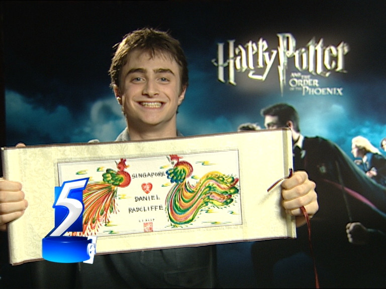 Pheonix Painting for Daniel Radcliffe