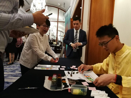Rainbow Calligraphy Event Arts