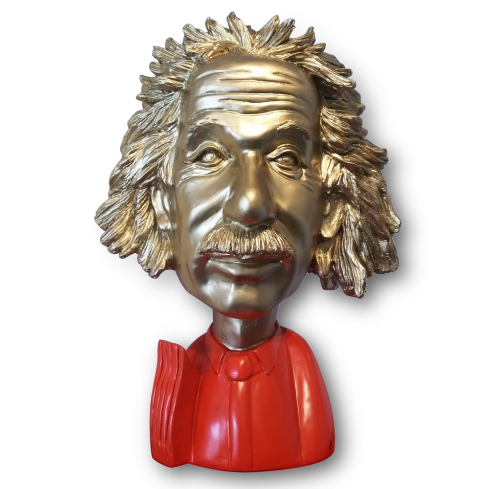 Einstein gold red