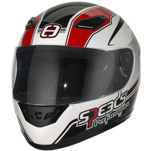 Styrthjelm  - Speeds Performance II - Racing Graphic Red