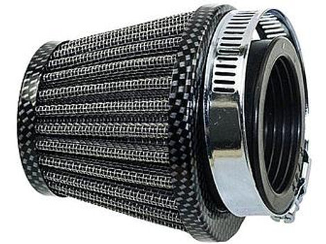 Power luftfilter Carbon look - 38 mm 0°