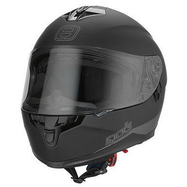 Styrthjelm m. solvisir  - Speeds Race II Black/Titanium/Matt Black