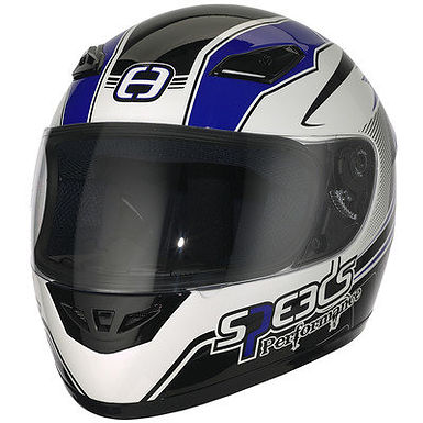 Styrthjelm  - Speeds Performance II - Racing Graphic Blue
