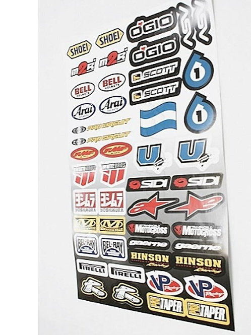 Stickersæt - Racing sticker kit 3, 30*45cm