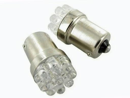 Blinklyspærer, sæt Orange - LED BA15S