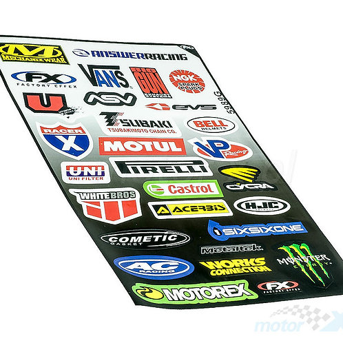 Stickersæt - Racing sticker kit 2, 30*45cm