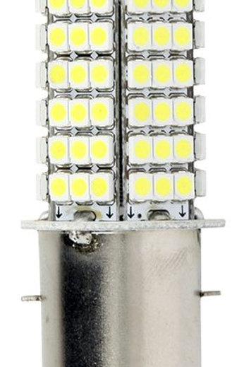 Forlygtepære - LED, BA20D, 12V 3W