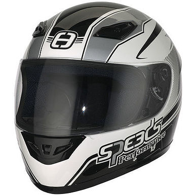 Styrthjelm  - Speeds Performance II - Racing Graphic Silver