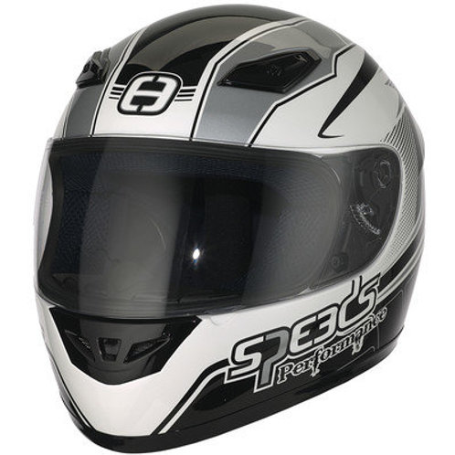 Styrthjelm  - Speeds Performance II - Racing Graphic Silver