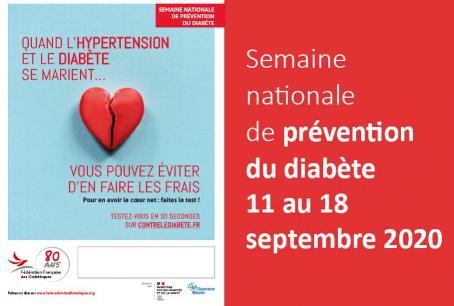 SEMAINE NATIONALE DE PRÉVENTION DU DIABÈTE 2020 : POUR PRÉVENIR LE DIABÈTE, VIVEZ ÉQUILIBRÉ