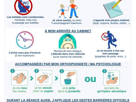 #COVID-19 | Votre cabinet d'orthophonie s'adapte !