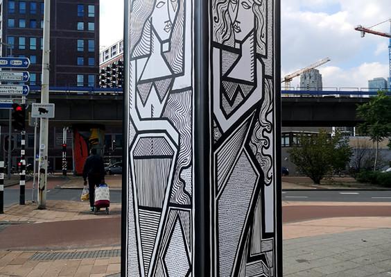 Information tower at Powwow Street art festival 2020