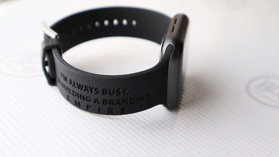 Personalized Band for Apple Watch®, 38/40mm, Laser Engraved