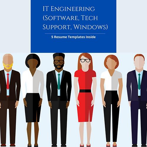 IT Engineer Resume Templates (Tech Support, Software, Customer Service, Windows)