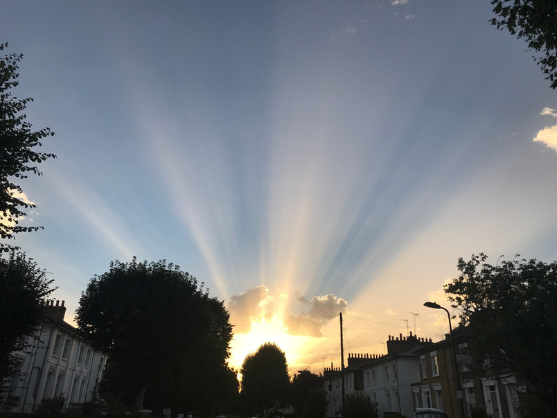 Beautiful sunset over Northchurch Road