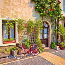 Italian Street Reference with Bike